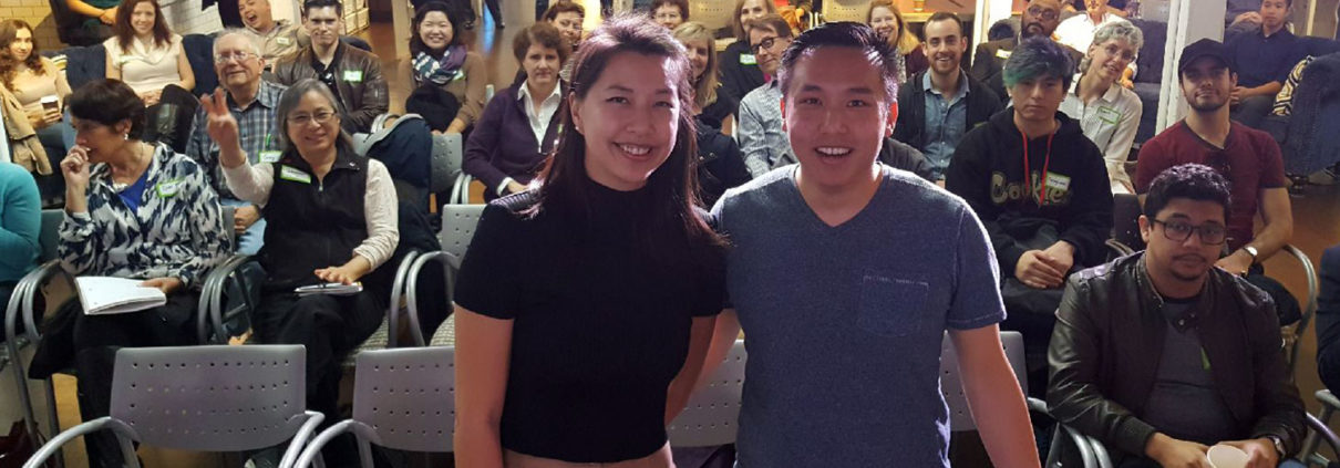 Patricia Huang and Albert Chu presentation at Friday Coffee Meetup